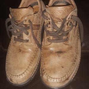 Men's Ecco Suede Leather Shoes
